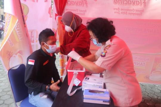 Polresta Bandarlampung gelar vaksin COVID-19 keliling