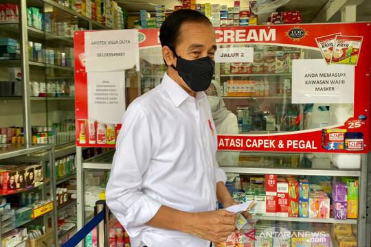 """Presiden Jokowi """"blusukan"""" cari obat COVID-19 di apotek Kota Bogor"""