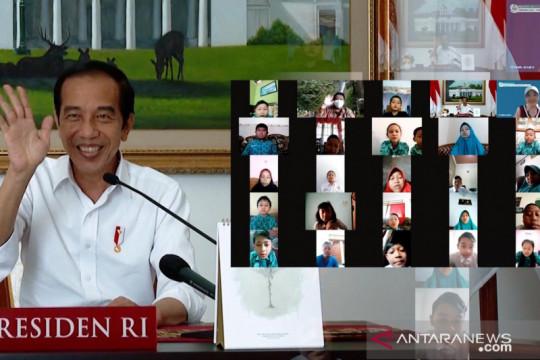 Peringati Hari Anak Nasional, Jokowi ditanya soal tugas presiden