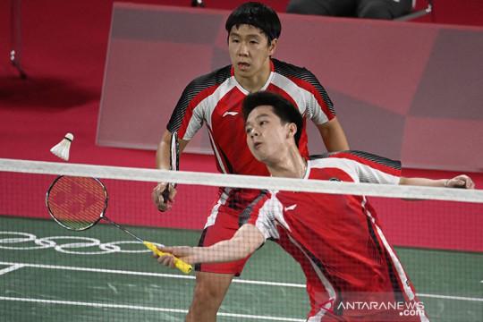 Kekalahan Marcus/Kevin membuat Indonesia tertinggal 0-1 dari Malaysia