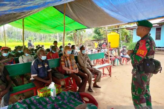 Satgas TNI edukasi warga perbatasan tentang pola hidup sehat