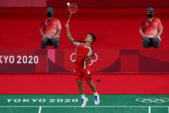 Ginting amankan kemenangan pertama di penyisihan Grup J Olimpiade