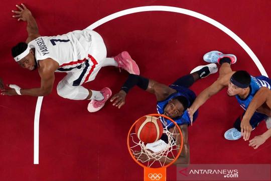 Tim basket Prancis menang lawan Amerika