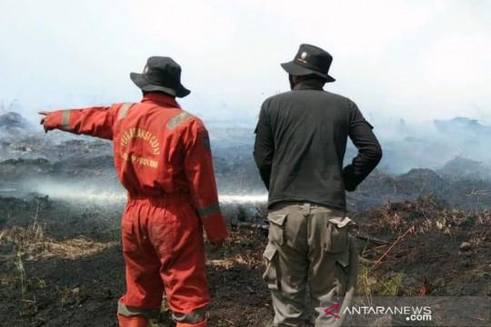 Tim Satgas Karhutla Riau berjibaku padamkan api