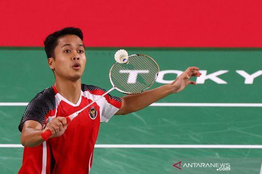 Olimpiade Tokyo : Anthony Ginting menang atas Gergely Krausz