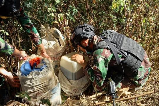 Satgas Pamtas RI-Timor Leste gagalkan penyelundupan BBM di perbatasan