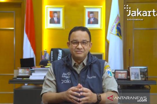 Anies: Jakarta mulai jauhi kondisi genting tapi tetap patuhi prokes