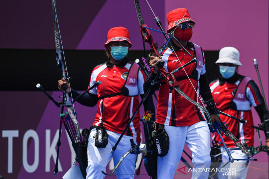 Olimpiade Tokyo 2020: Tim panahan beregu putra Indonesia kalah lawan Inggris