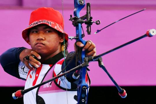Arif Dwi Pangestu terkecoh embusan angin kencang di Olimpiade Tokyo