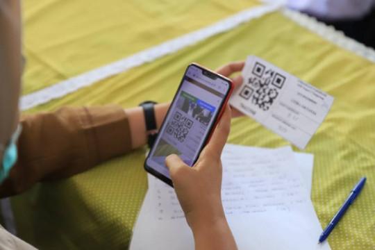 Nakes Kota Tangerang terbantu daftar vaksin menggunakan sistem barcode