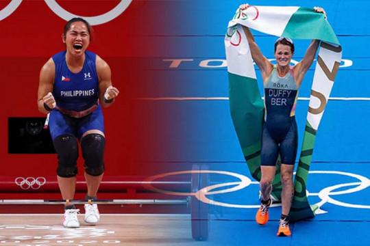 Dua srikandi membuat Filipina dan Bermuda penuhi dahaga emas Olimpiade