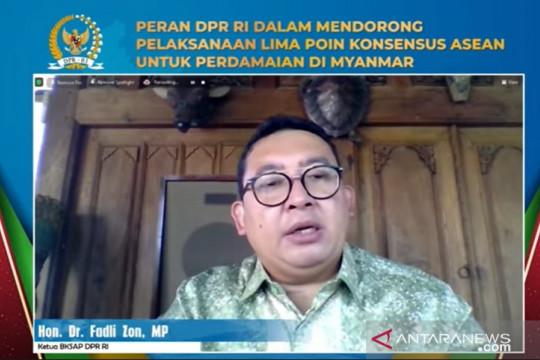 Fadli Zon: BKSAP DPR RI berupaya dorong perdamaian di Myanmar
