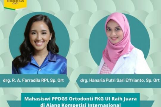 Dua mahasiswa FKG UI raih penghargaan kompetisi internasional