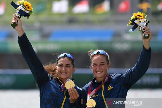 Dua emas pertama dayung jadi milik Rumania dan Prancis