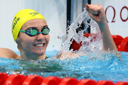 Titmus si Terminator kembali sabet emas renang, cetak rekor Olimpiade