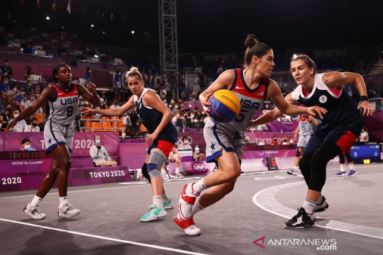 Tim putri Amerika Serikat sabet emas Olimpiade perdana basket 3x3