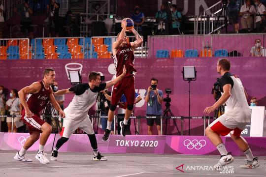 Latvia menangi laga sengit kontra Rusia untuk emas 3x3 putra Olimpiade