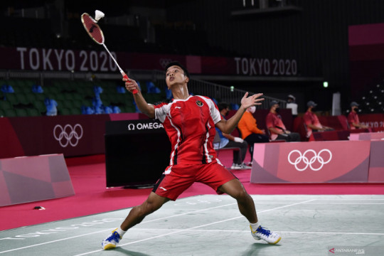 Ginting singkirkan Tsuneyama untuk ke perempat final Olimpiade