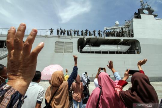 Pemberangkatan prajurit Raider TNI ke Papua