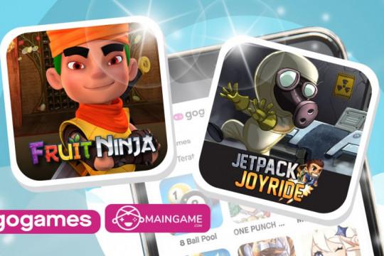 """Game """"Fruit Ninja"""" dan """"Jetpack Joyride"""" hadir di aplikasi Gojek"""