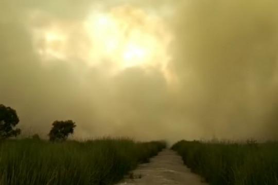 Kabut asap mulai selimuti Banjarbaru, Kalsel