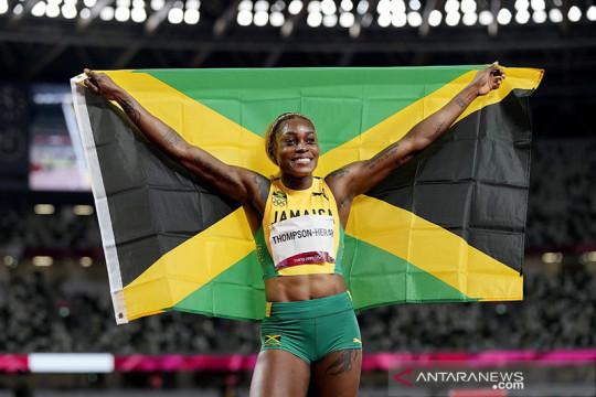 Jamaika sapu medali 100m putri, Thompson-Herah dekati rekor Flo Jo
