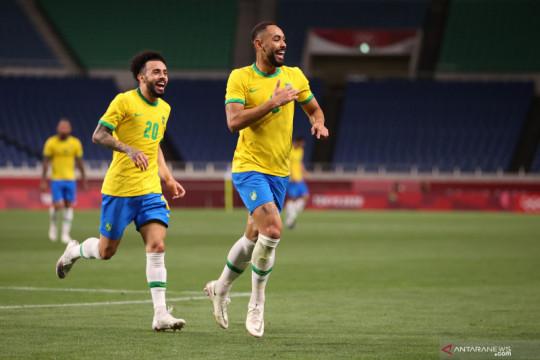 Brazil lolos ke semifinal setelah menang tipis 1-0 atas Mesir