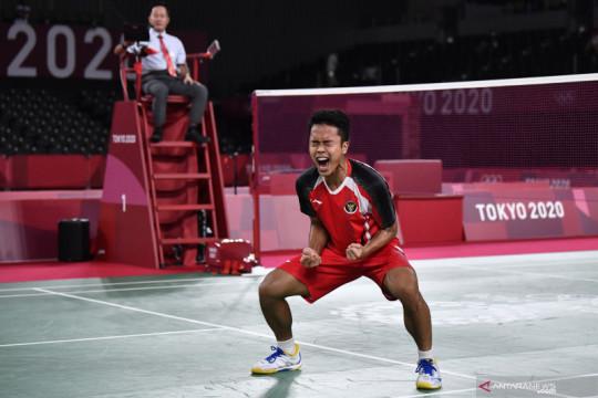 Ginting singkirkan peringkat tiga dan menuju semifinal Olimpiade Tokyo
