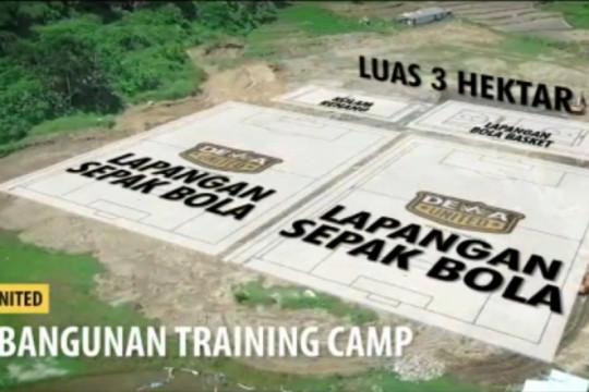 Dewa United bangun lapangan latihan berstandar internasional di Bogor