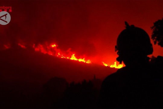 Kebakaran hutan di Costa Brava Spanyol memaksa ratusan orang mengungsi