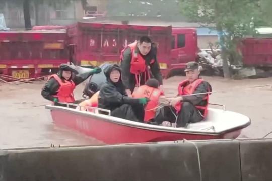 Diterjang hujan deras, Provinsi Henan aktifkan tanggap darurat level tertinggi