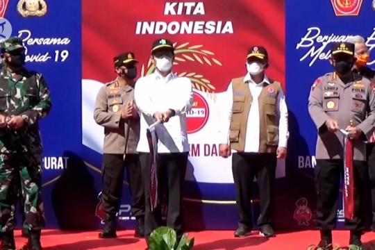 Polri dan TNI salurkan 30 ribu paket bansos di Solo