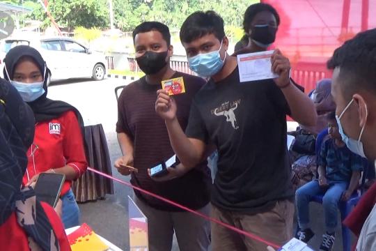 Ikut vaksin di Lapas Muaro Padang dapat paket internet
