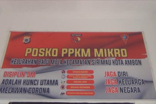 Wali Kota Ambon tinjau penerapan PPKM Mikro di kelurahan