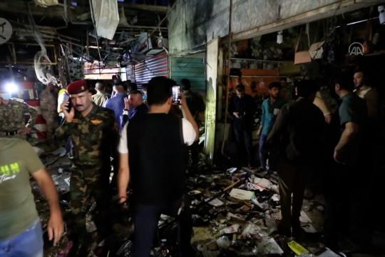 22 orang tewas, puluhan terluka dalam ledakan pasar Baghdad