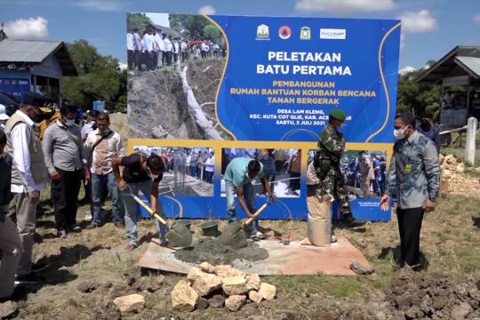 Pemerintah Aceh bangun 18 unit rumah untuk korban tanah bergerak