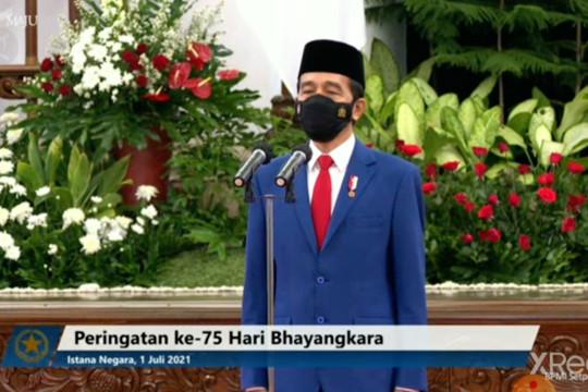 Presiden pimpin upacara HUT ke -75 Polri