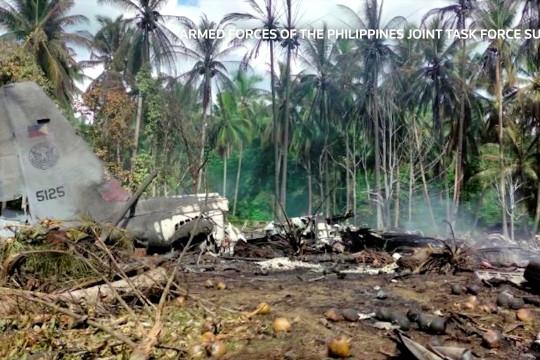 Sedikitnya 45 tewas dalam kecelakaan pesawat Angkatan Udara Filipina