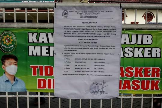 Pengadilan Negeri Surabaya kembali ditutup