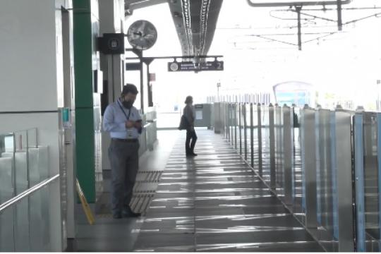 Syarat STRP berlaku, stasiun MRT sepi penumpang