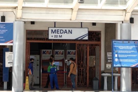 PPKM Darurat sukses turunkan mobilitas masyarakat di Stasiun KA Medan