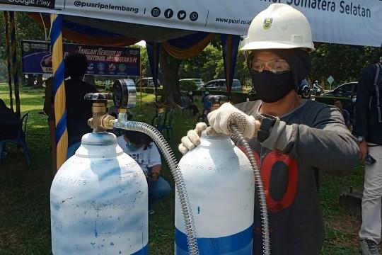 PT Pusri Palembang sediakan layanan pengisian tabung oksigengratis