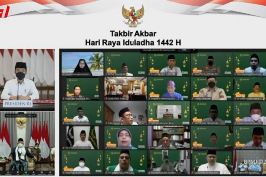 Takbiran virtual, Jokowi ingatkan pesan pengorbanan