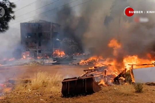 Kebakaran hebat landa hutan di kota resor Mediterania Turki