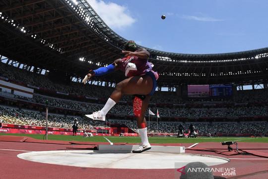 IOC selidiki gerakan yang digunakan atlet AS Saunders di podium
