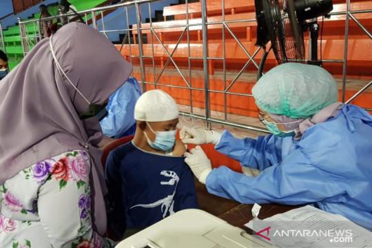 Puluhan anak berkebutuhan khusus ikut vaksin COVID-19 di Jakarta Utara