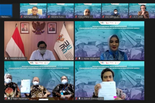 Pertamina NRE-Pupuk Indonesia bidik pengembangan hidrogen