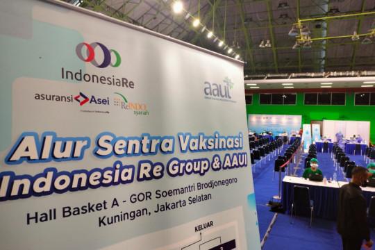 Indonesia Re Group bersama AAUI gelar Sentra Vaksinasi gratis untuk umum