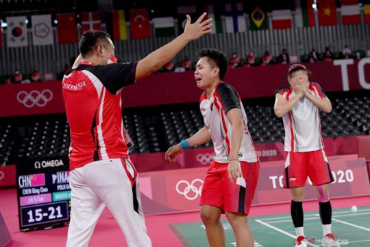 Greysia/Apriyani lengkapi kejayaan bulu tangkis Indonesia di Olimpiade