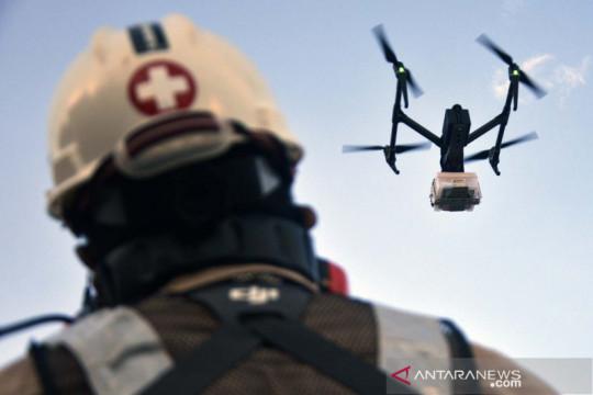 Drone antar obat pasien COVID-19 di kapal isolasi apung terpadu